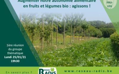 25/01/2021 – Première réunion du groupe thématique «Fruits et légumes bio – Maraichage et arboriculture fruitière»