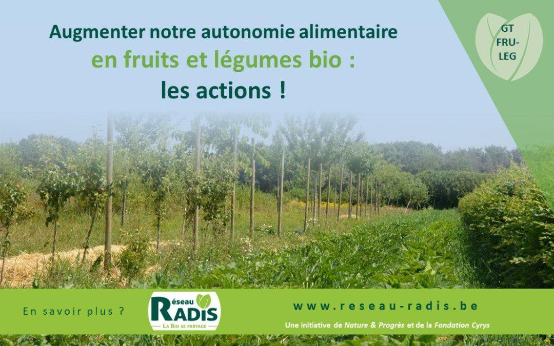 Quelles actions pour renforcer les filières fruits et légumes bio ? Recensement et priorisation