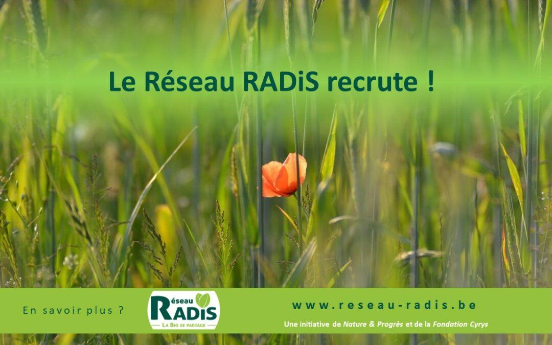 Le Réseau RADiS recrute un.e chargé de projet en agriculture biologique & solidaire