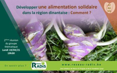 Développer une alimentation solidaire : Comment ? Deuxième réunion
