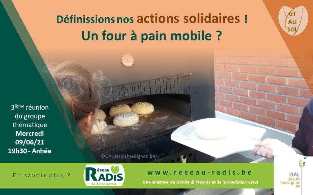 Invitation 9 juin – Alimentation solidaire : Un four à pain mobile pour le Réseau RADiS ?