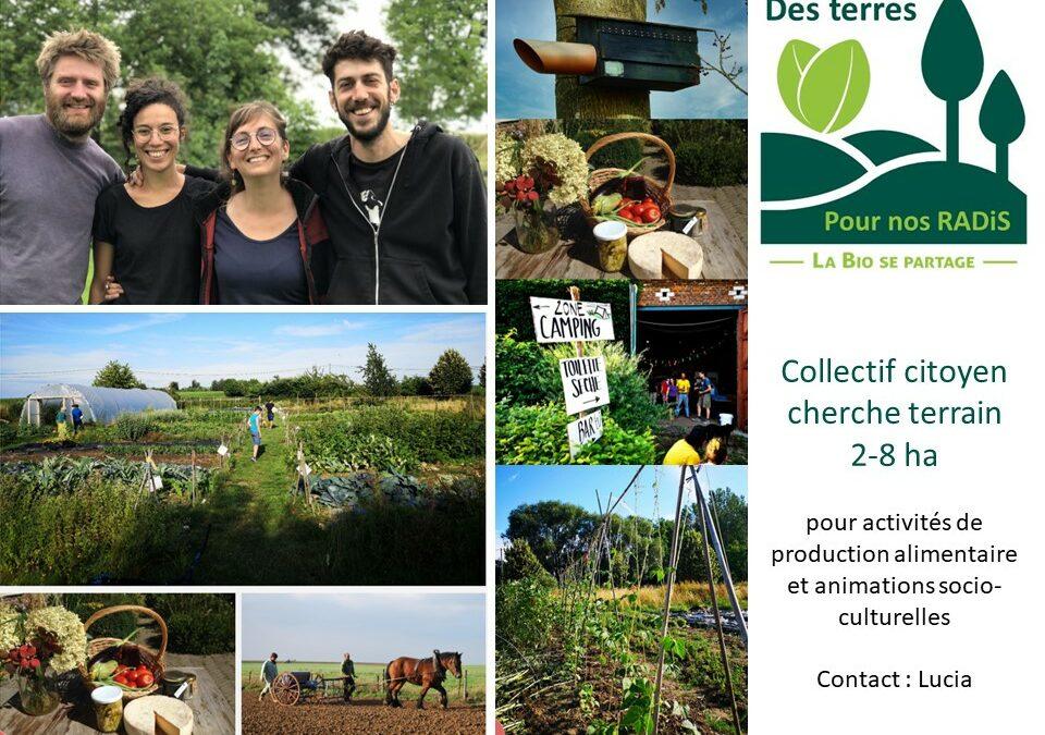 Collectif citoyen cherche terrain 2-8 ha pour projet alimentaire et socio-culturel